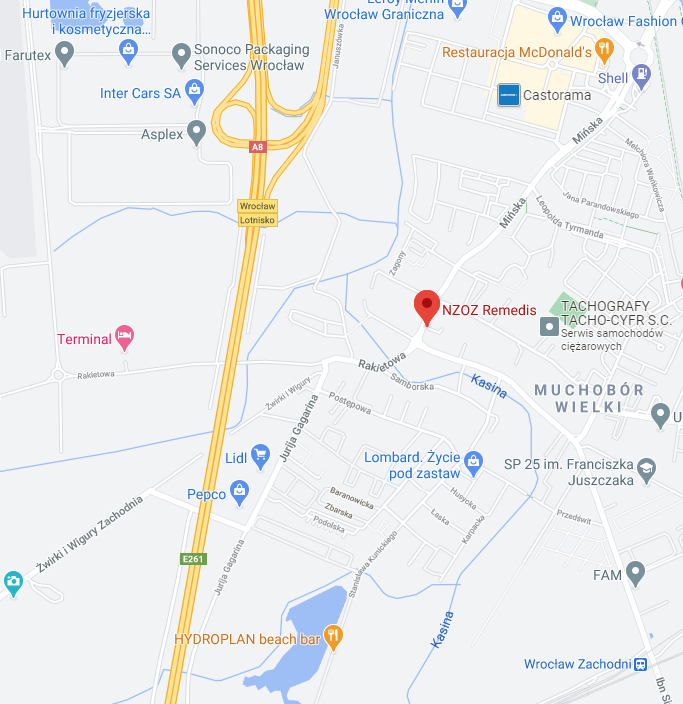 Mapa dojazdowa - kliknij